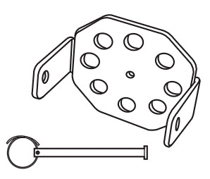 101018 Header Bracket With Clevis Pin