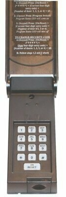 297138, 02-3039U Wayne Dalton Wireless Keypad
