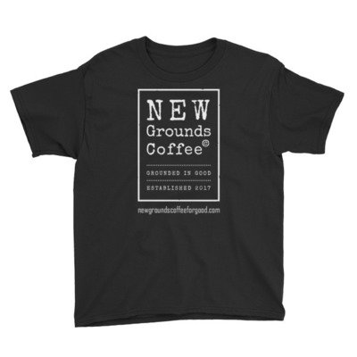NEW Grounds Youth Short Sleeve T-Shirt - Black or Gray