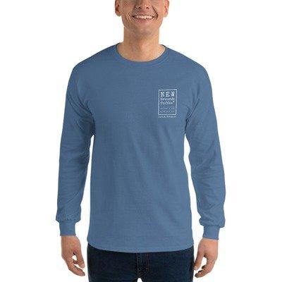 NEW Grounds Long Sleeve T-Shirt - Indigo Blue (unisex)
