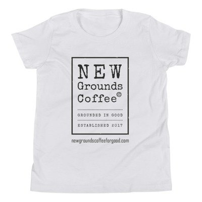 NEW Grounds Youth Short Sleeve T-Shirt - White