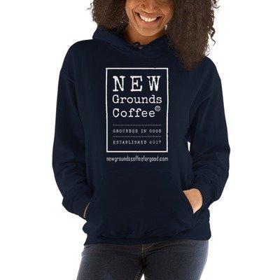NEW Grounds Hoodie - Navy (unisex)