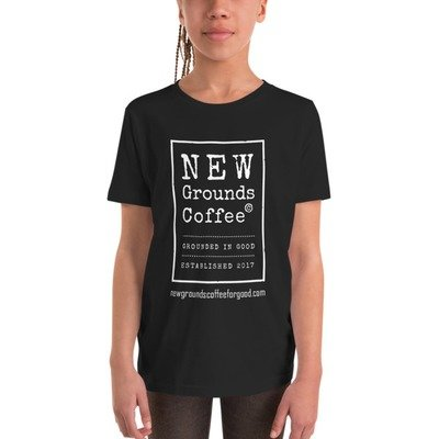 NEW Grounds Youth Short Sleeve T-Shirt - Black