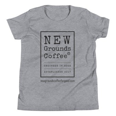 NEW Grounds Youth Short Sleeve T-Shirt - Gray