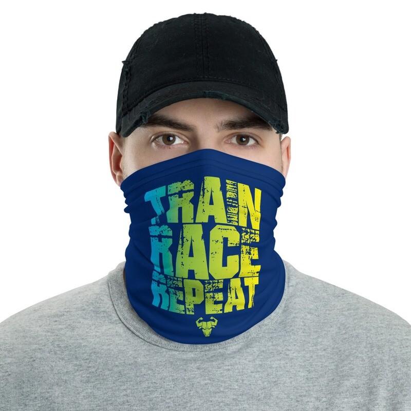 Train. Race. Repeat. Blue Bandana