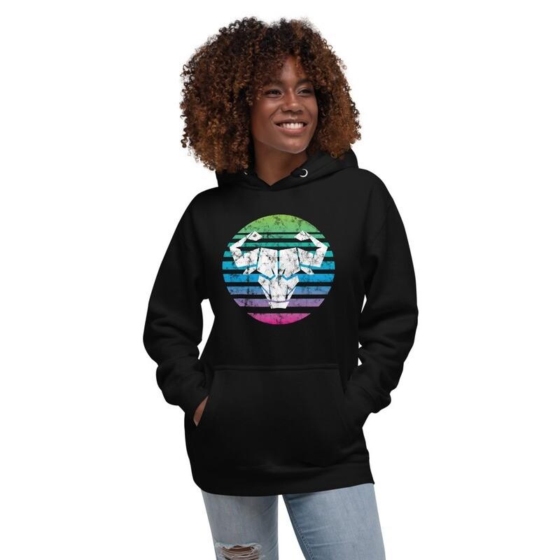 Unisex Rainbow Ombre Hoodie