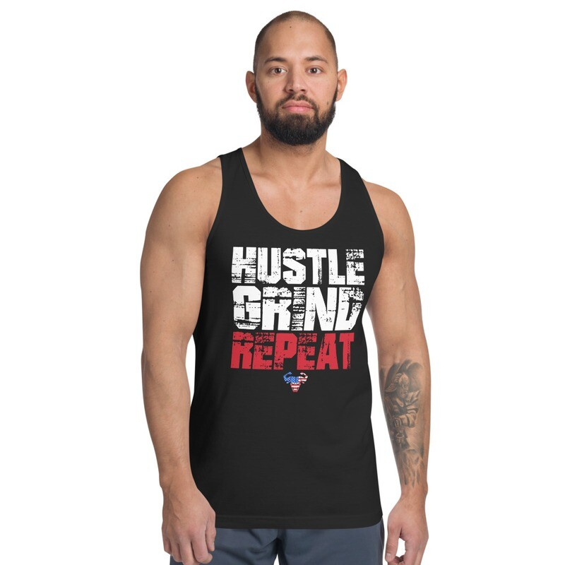 Hustle. Grind. Repeat. USA Classic Tank