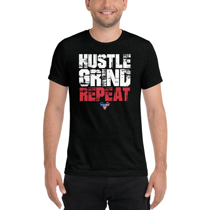 Hustle. Grind. Repeat. USA Triblend Tee