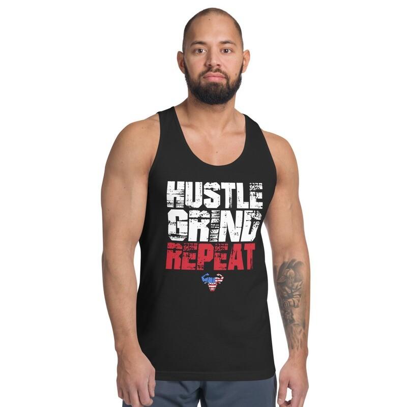 Hustle. Grind. Repeat. USA Classic Tank Top