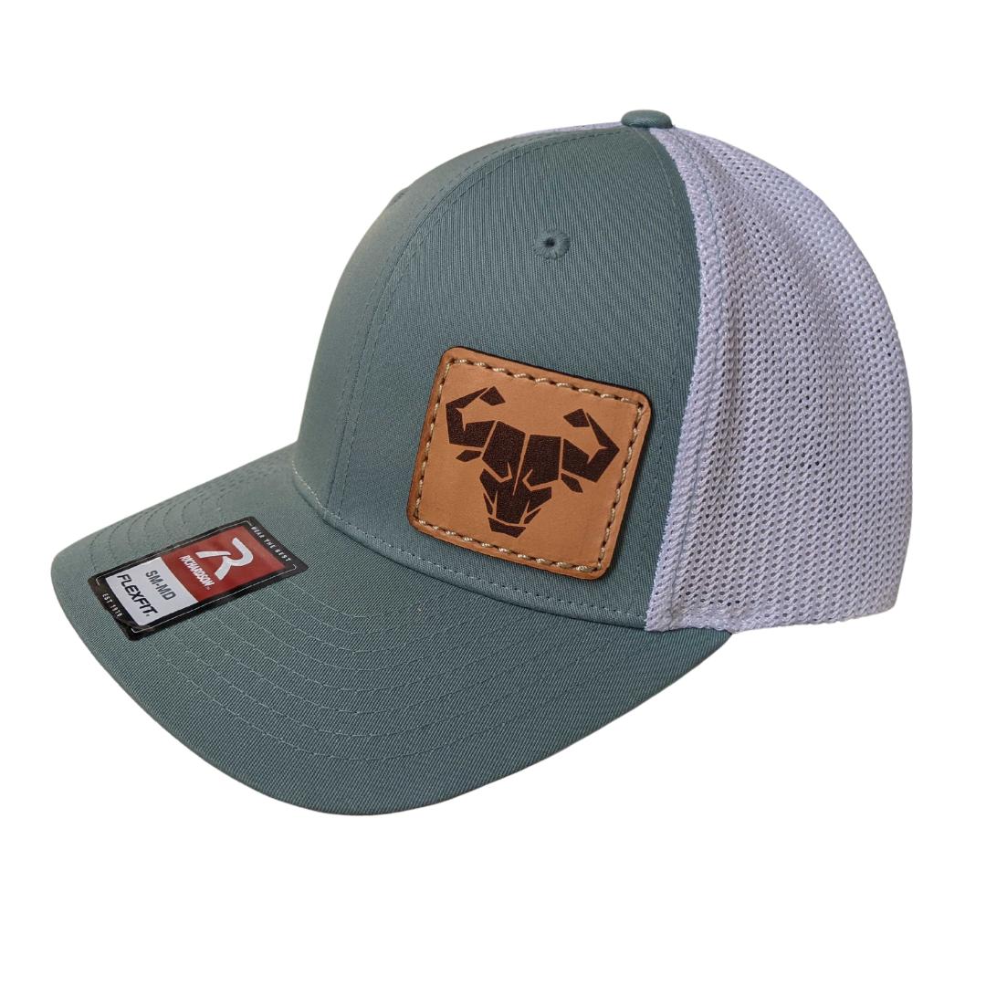 Trucker Flex Fit Hat (Smoke Blue/White)