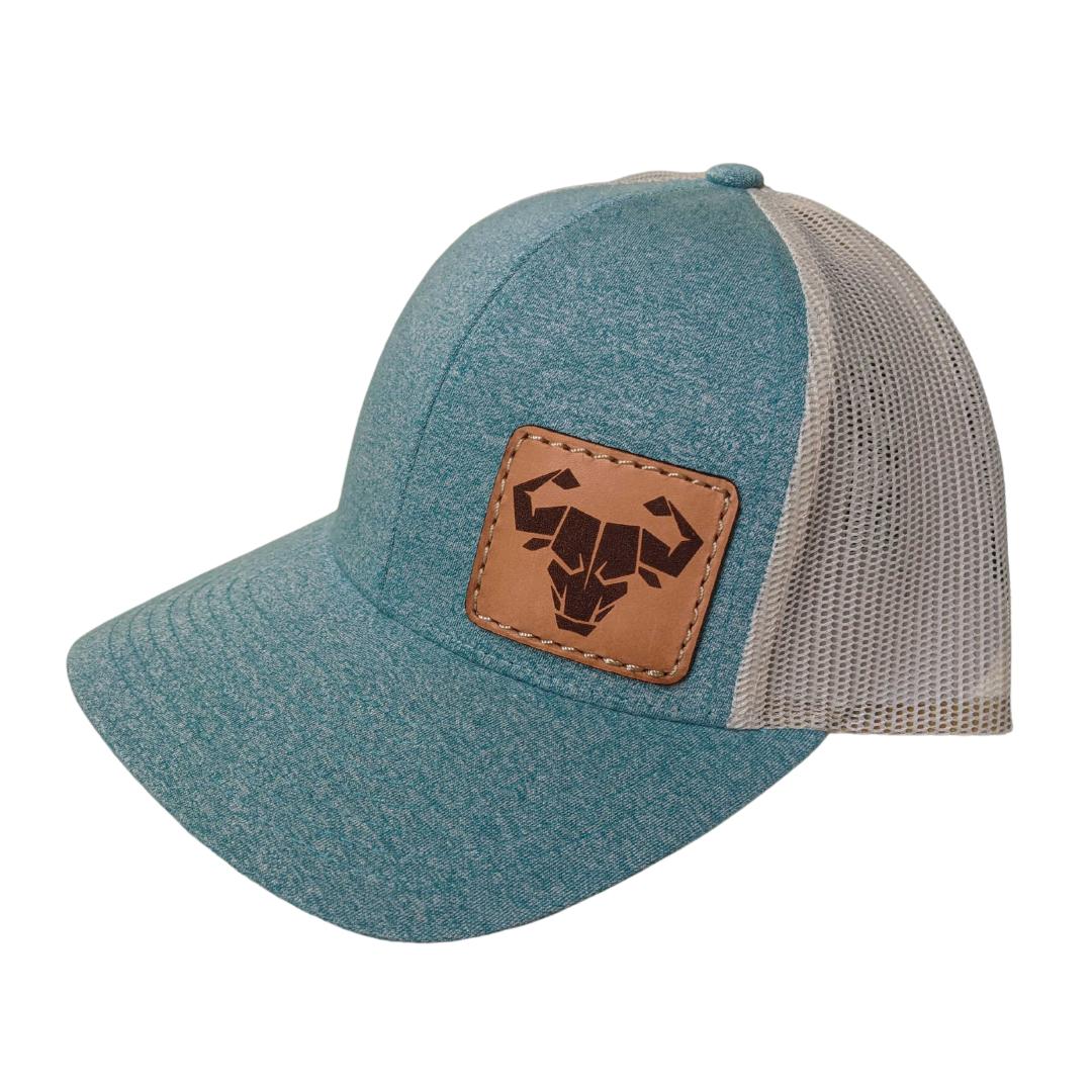 Trucker Hat (Green Teal Heather/Birch)