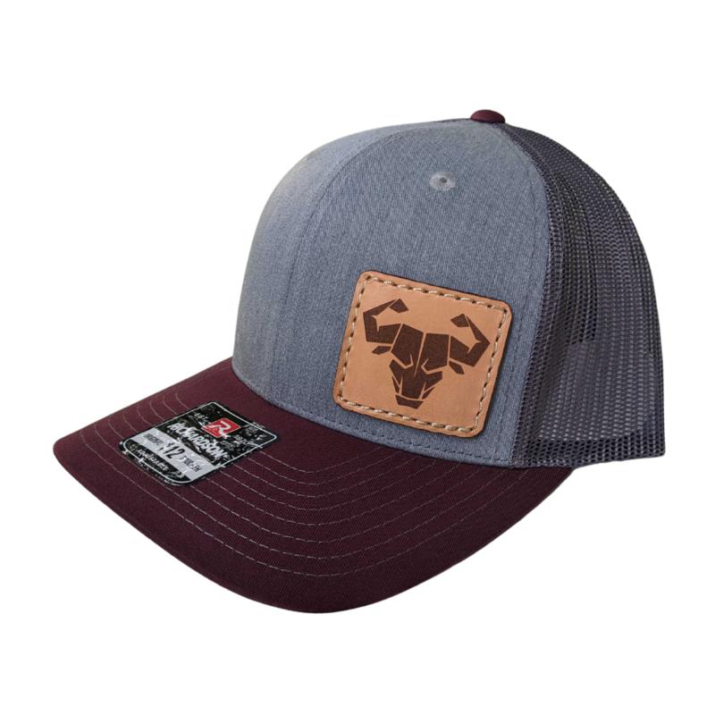 Trucker Hat (Heather Gray/Charcoal/Maroon)