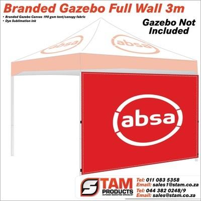 Branded Gazebo Full Wall