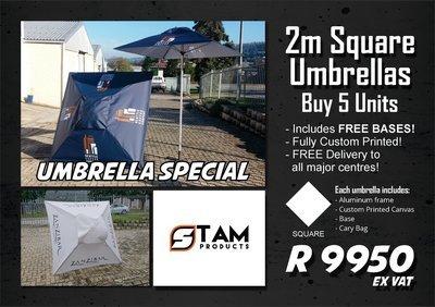 2m Square Umbrellas