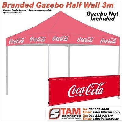 Branded Gazebo Half Wall