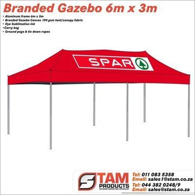 Branded Gazebo Deluxe  Aluminum Frame 6m x 3m