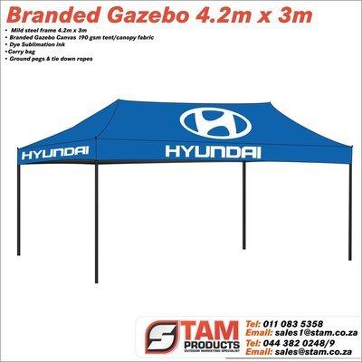 Branded Gazebo Mild Steel Frame 6m x 3m