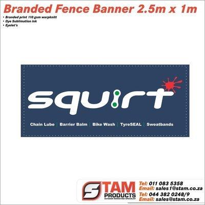 Fence Wrap Banner 2.5m x 1m