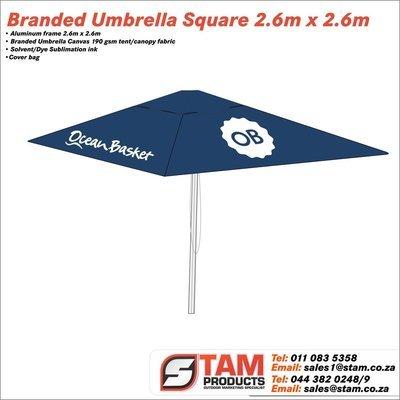 Branded Umbrella Square 2.6m 2.6m