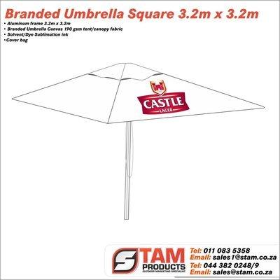 Branded Umbrella Square 3.2m x 3.2m