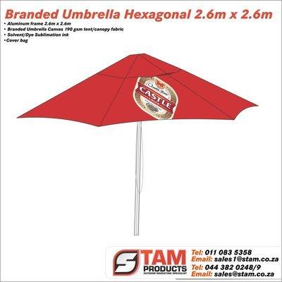 Umbrella Hexagonal 2.6m x 2.6m
