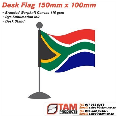 Country Desk Flag 150mm x 100mm with Stand