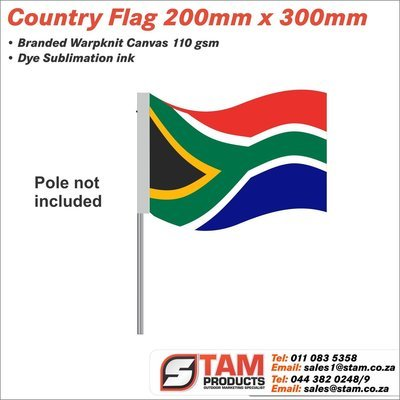 Country Flag 200mm x 300mm