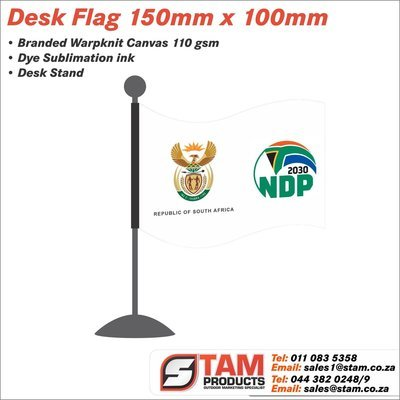 Corporate Desk Flag 150mm x 100mm with Stand