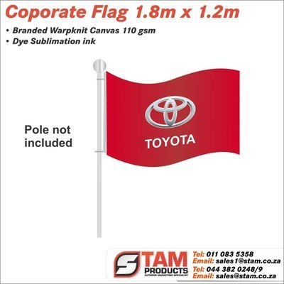 Corporate Flag 1.8m x 1.2m