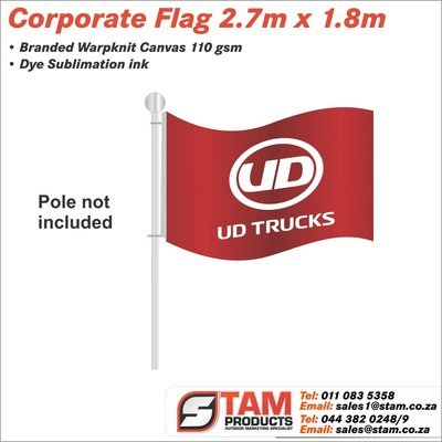 Corporate Flag 2.7m x 1.8m