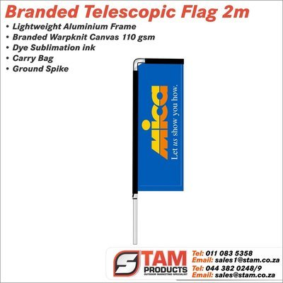 Telescopic Flag 2 Meter