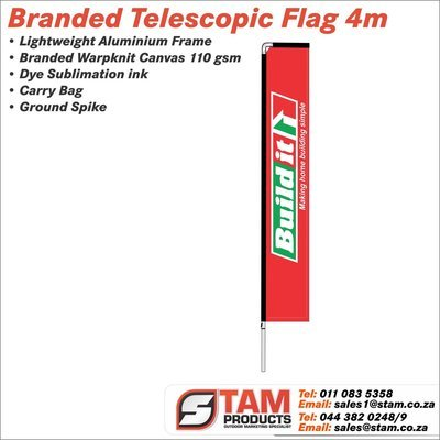 Telescopic Flag 4 Meter