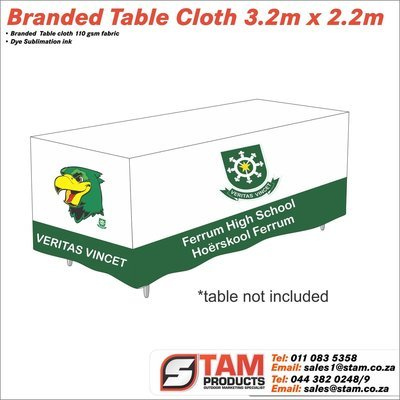 Branded Trestle table cloth 3.2m x 2.2m