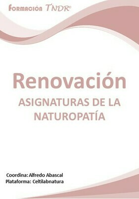 Renovación Asignaturas Naturopatía