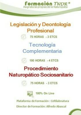 Asignaturas Naturopatía Nivel de Graduado