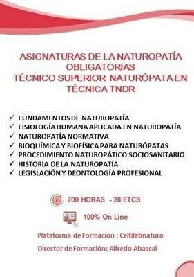 ASIGNATURAS NATUROPATÍA TÉCNICO SUPERIOR