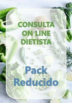 Pack Reducido Consulta On Line Dietista