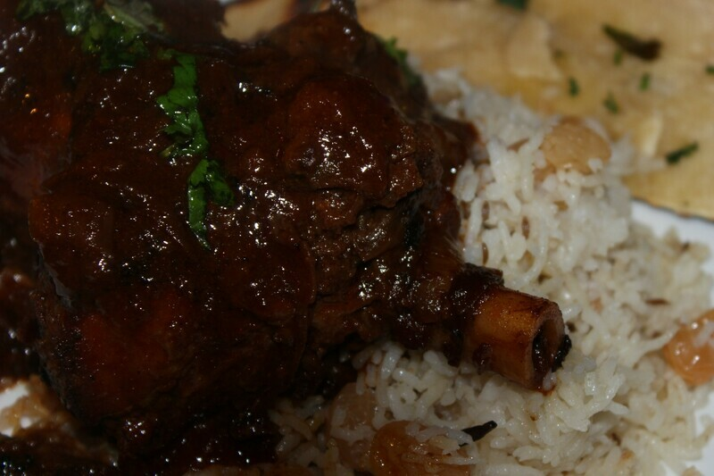 March 5th Hyderabad Lamb Curry or Paneer & Chickpea Curry