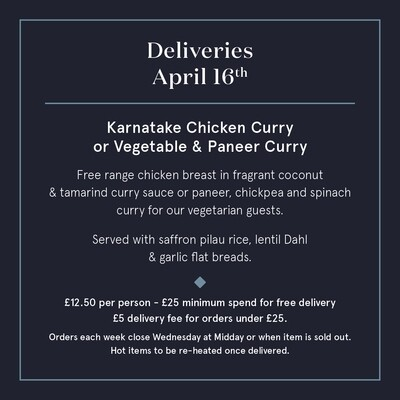 April 16th Karnatake Chicken Curry or Vegetable Curry