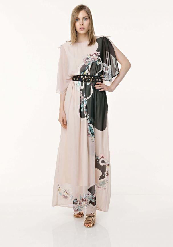 Vestito lungo Fracomina stampa floreale.