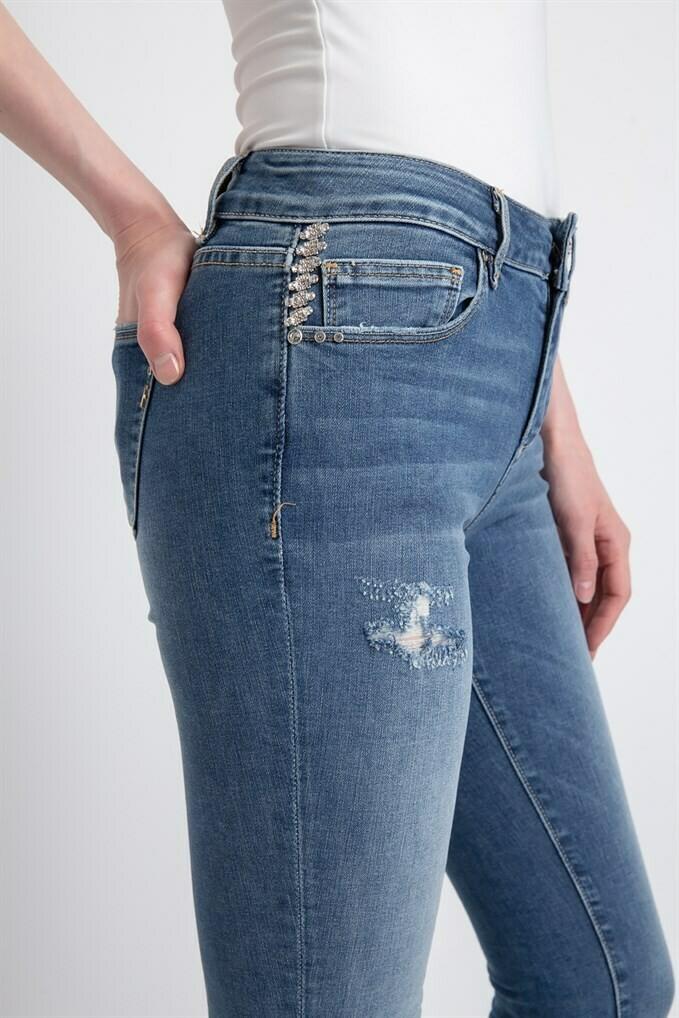 Jeans a vita alta skinny