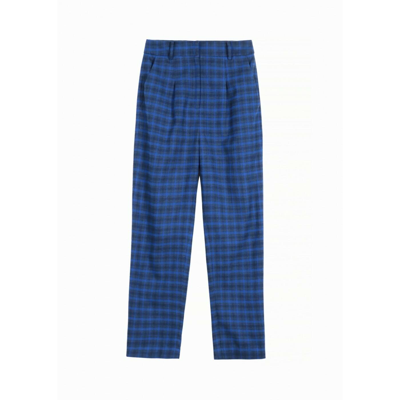 Pantalone in flanella a quadri