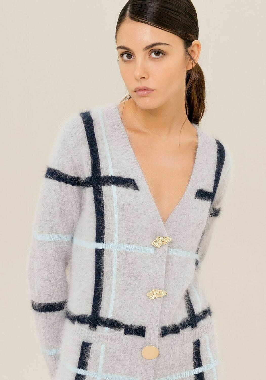 Cardigan lungo in lana.