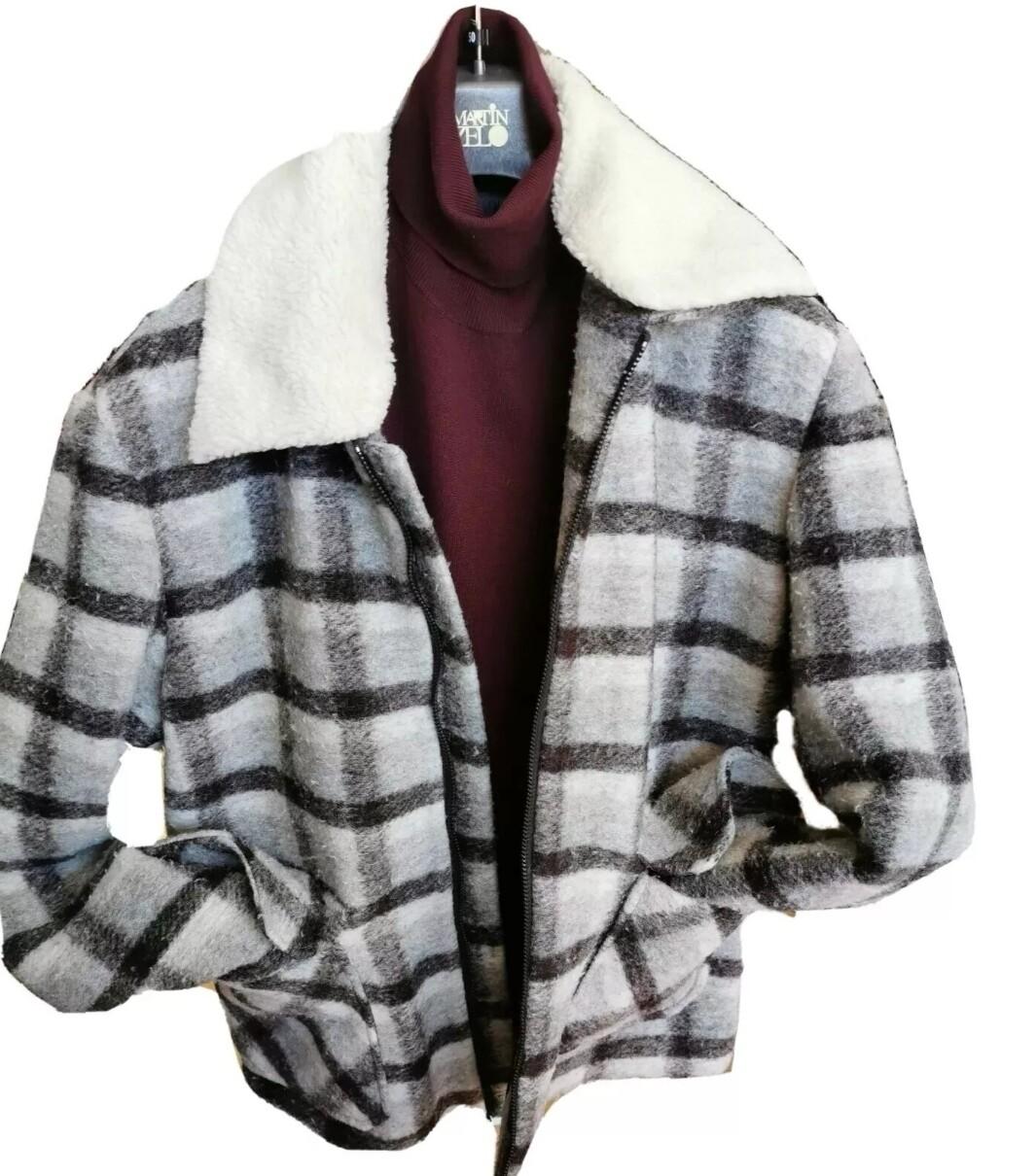 Giubbino in lana effetto used