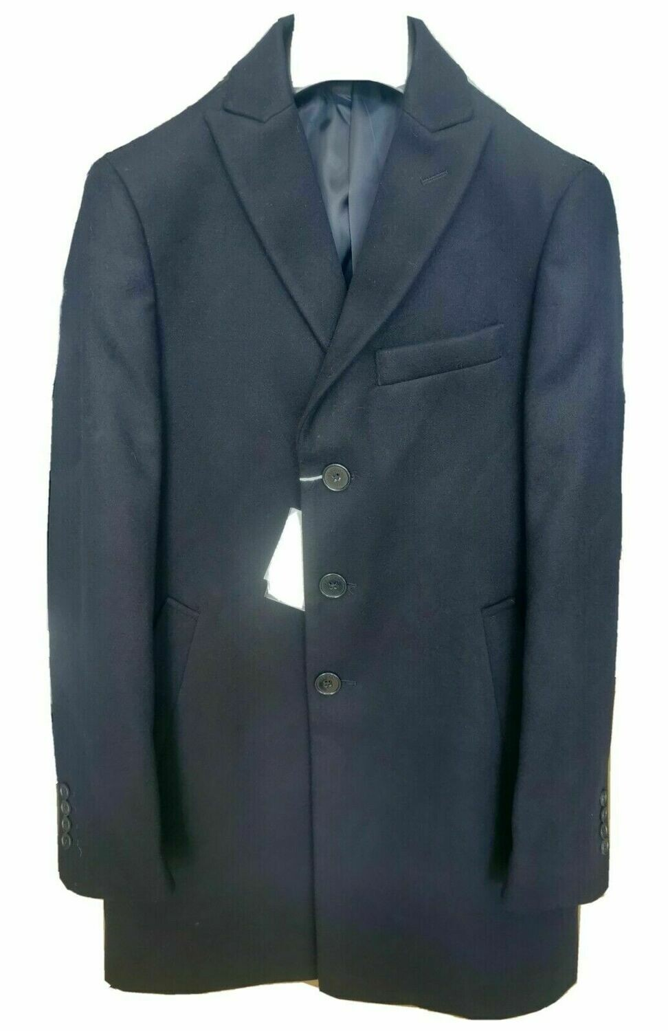 Cappotto in panno slim fit