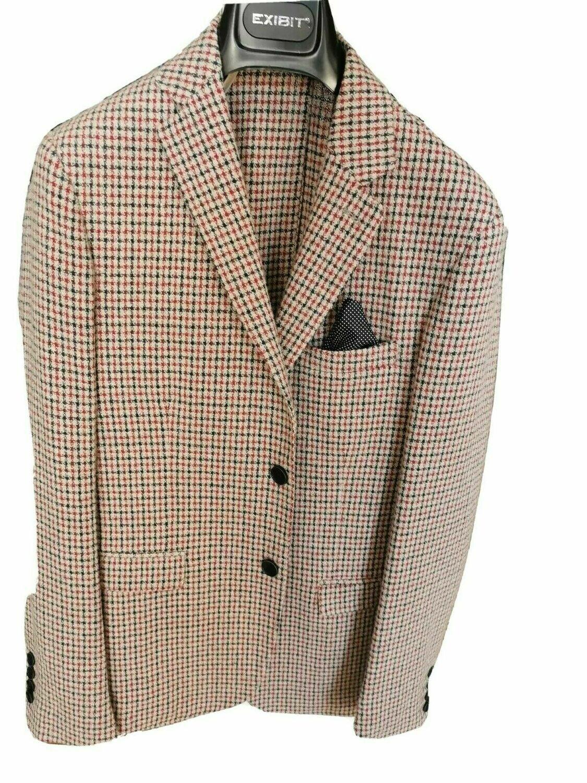 Giacca a quadretti in tweed
