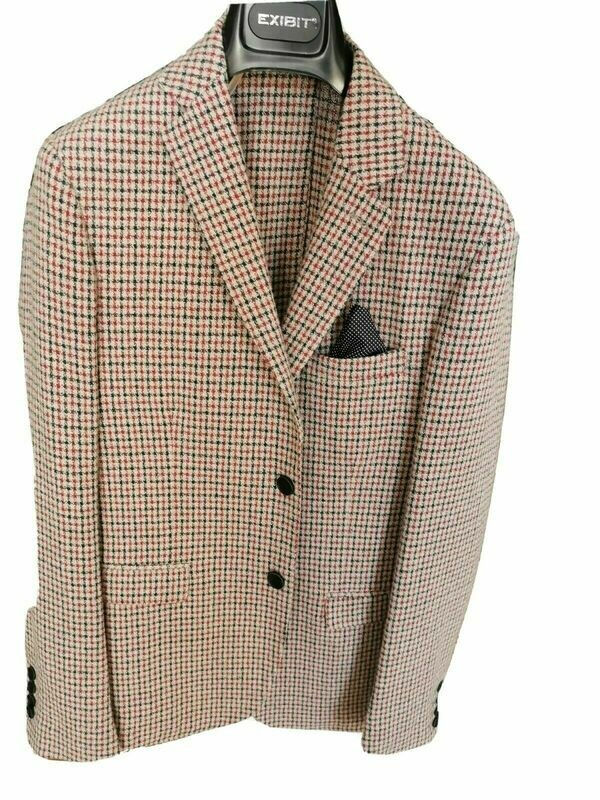 Checked tweed jacket