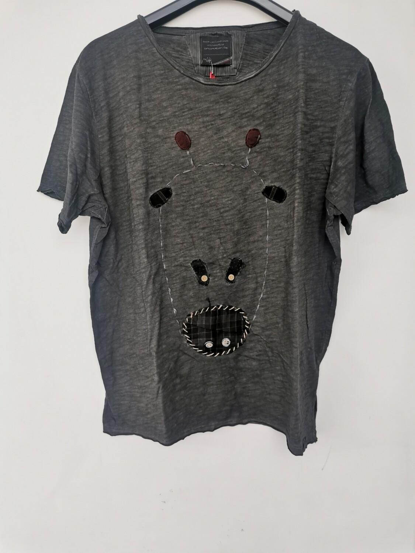 T-shirt ricamo giraffa