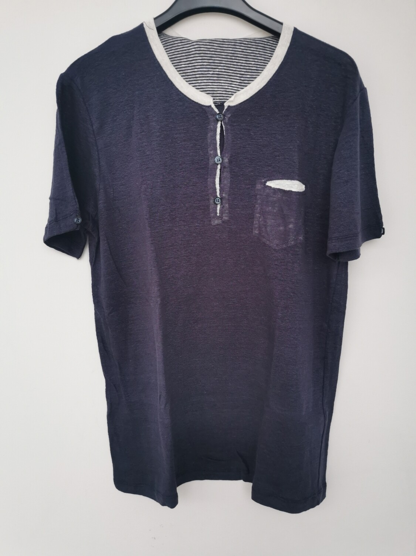 T-shirt serafino in lino