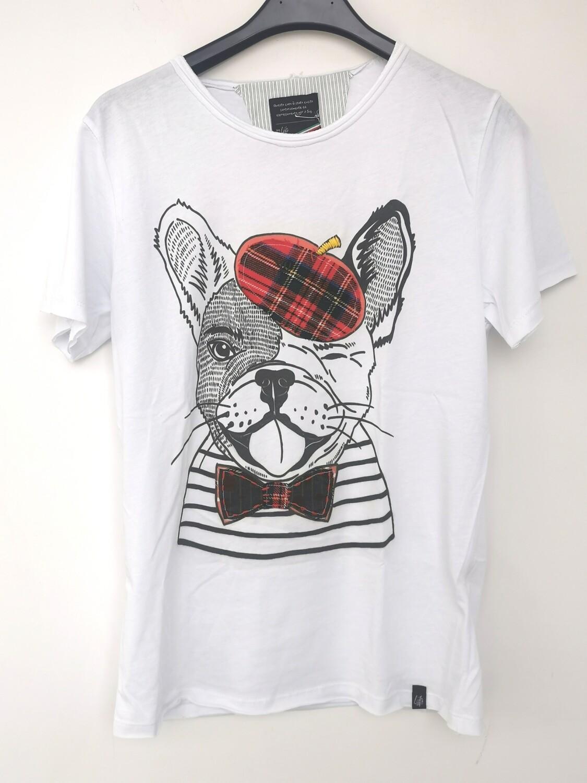 T-shirt stampa cane